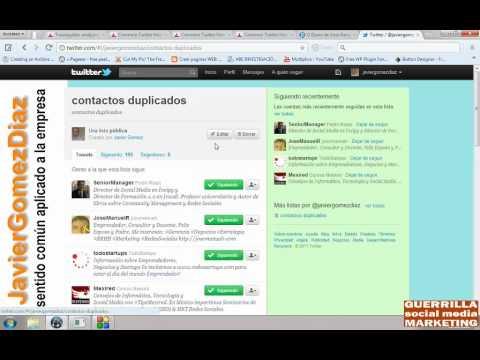 Como Encontrar Seguidores Y Seguidos Duplicados En Twitter