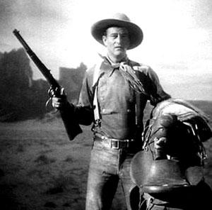 John Wayne en Centauros del Desierto. El copyright supongo que será Warner Bros.