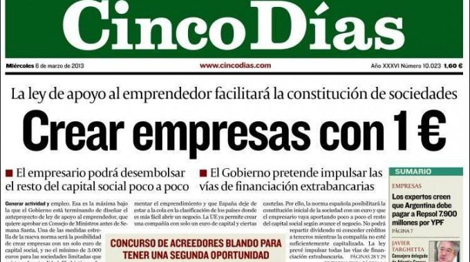 Crear Una Empresa Con 1 Euro De Capital: El Gobierno Ha Descubierto La Rueda