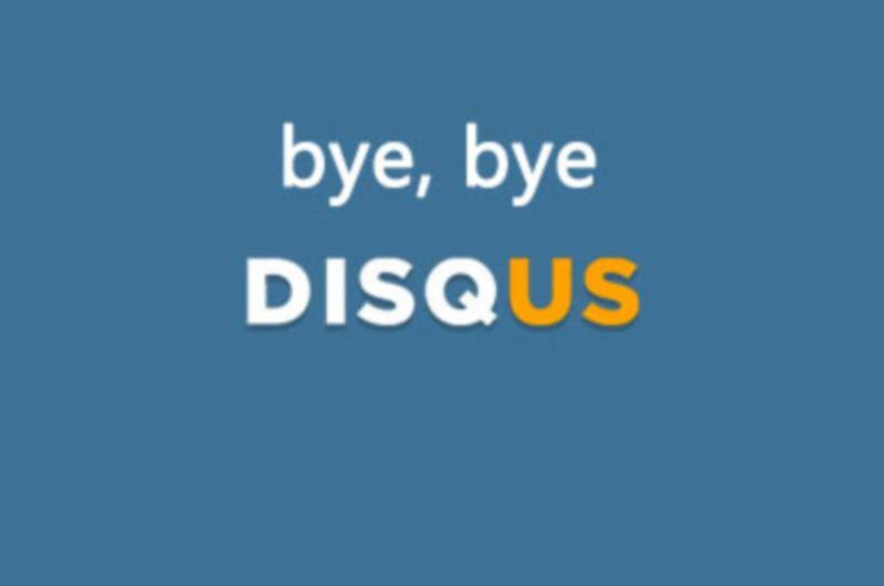 Bye bye Disqus, hello IntenseDebate