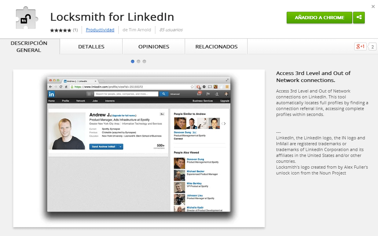 Mejores Linkedin extensiones y plugins en Chrome de 2016 - Javier ...