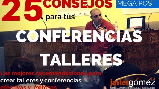 25 Consejos Conferencias Talleres Ponencias